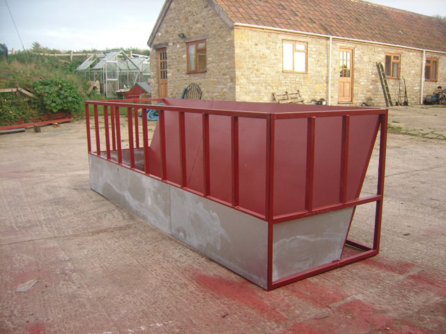 Symms Fabrication Feed Barrier Sloping Back
